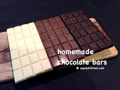 homemade chocolate bars recipe | how to make homemade chocolate bars recipe