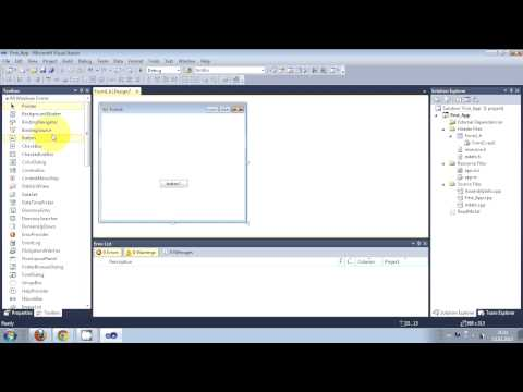 Visual C++ Tutorial 1 -Windows Forms Application: Getting Started Hello World Free Install