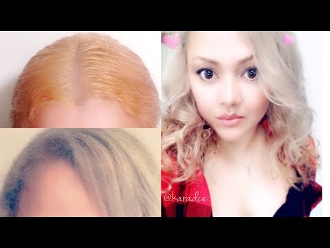HOW TO FIX ORANGE/BRASSY HAIR TO MEDIUM ASH BLONDE AT HOME - Kara