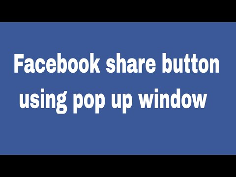 How to create facebook  share button using pop up window on website