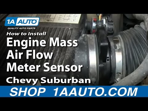 How To Install Replace Engine Mass Air Flow Meter Sensor 2000-06 5.3L Chevy Suburban