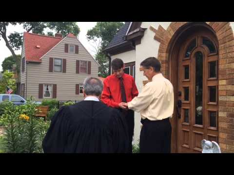 Watch Bay City gay couple marry