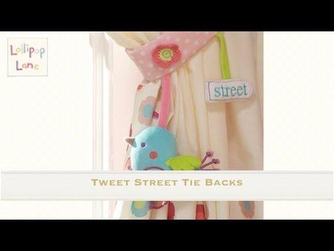 Tweet Street Tie Backs from Lollipop Lane