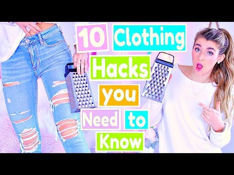10 DIY Clothing Hacks Every GIRL Needs to Know!