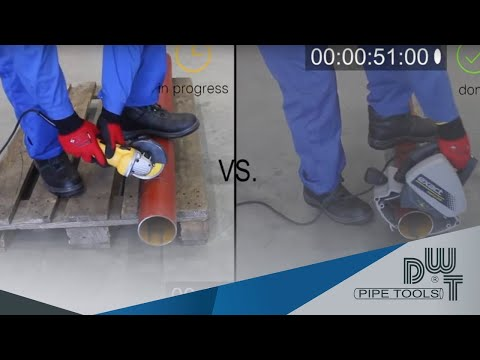 Exact Pipe Saw and Pipe Cutter vs. Angle Grinder