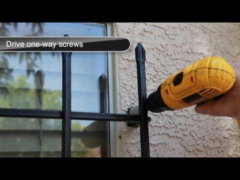 Vertical Window Guard installation