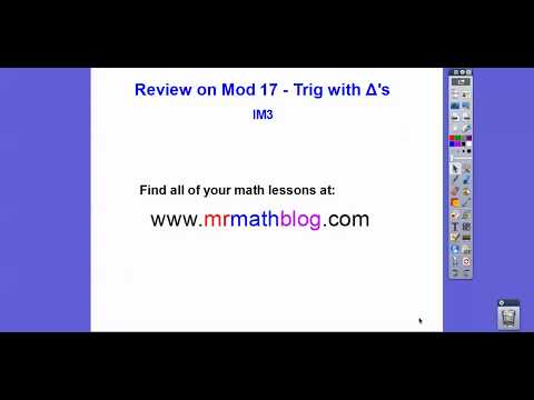Review for Mod 17 Quiz - Solving Triangles with Trig