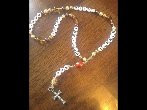 D.I.Y.  Rosary Beads-Personalized