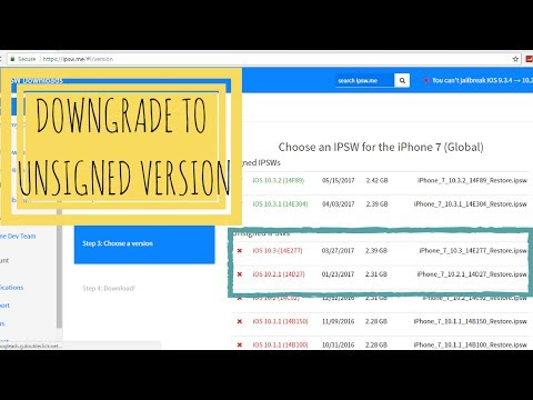 How TO Downgrade TO Unsigned iOS Version [2017]