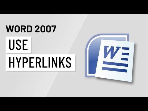 Word 2007: Using Hyperlinks