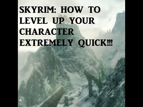 Skyrim: How to Level Up Super Fast! (PC, PS3, Xbox 360)