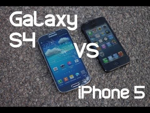 Samsung Galaxy S4 vs. iPhone 5 Drop Test