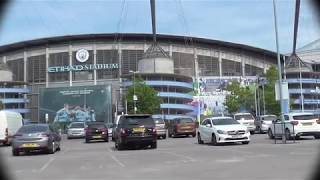 7c7bf3cef4b02 Manchester United Old Trafford Stadium and Nearby Aerial View  4K ...