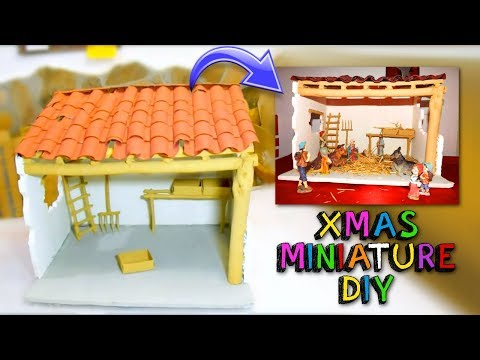 DIY Miniature Dollhouse RUSTIC BEDROOM FOR CHRISTMAS NATIVITY
