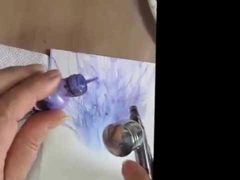 Alcohol Ink Compressor Flowers