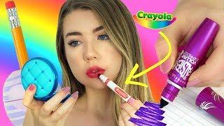 DIY Back to School Makeup School Supplies!! Weird School Supplies You Need to Try!