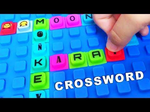 ABC - Squishy alphabet WAFF Crossword playmat. Let's play kids.