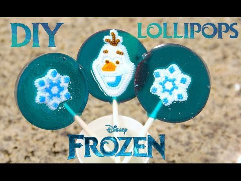 DIY DISNEY FROZEN Lollipops! How to make Homemade Lollipops EASY.