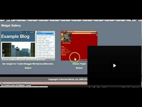 How to Get a Tumblr Music Player Either Visible or Hidden.
