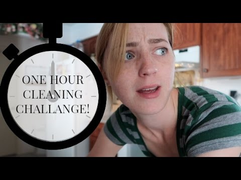 CLEAN WITH ME | ONE HOUR CLEANING CHALLENGE
