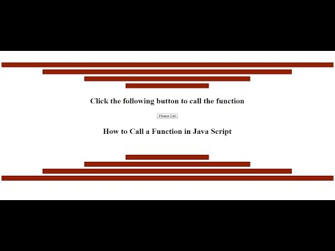 JavaScript Tutorial of How to Call a Function