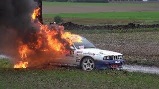 Crash Renaud Verreydt + fire - Rallye du Condroz 2013