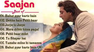 Mera dil bhi kitna pagal    bahut pyar karte hain   Best Of saajan film    Sanjay dutt Madhuri dixit