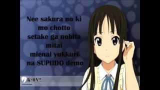 K-On!! Tenshi ni Fureta yo! - Lyrics