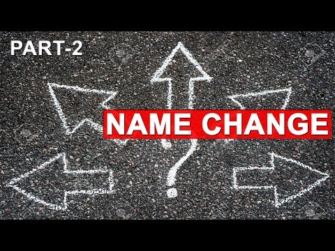 Name Change Process in India | How to | Follow up | Must Watch