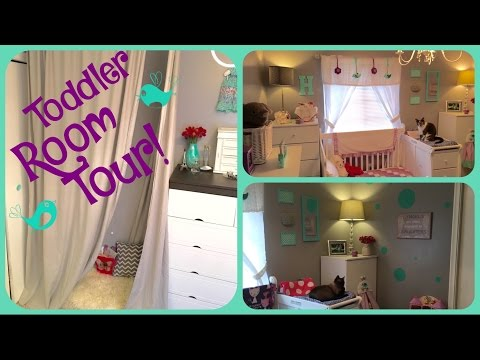 🎀 Girl Toddler Room Tour with DIY Reading Nook🎀