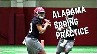 Alabama Football Spring Practice Highlights