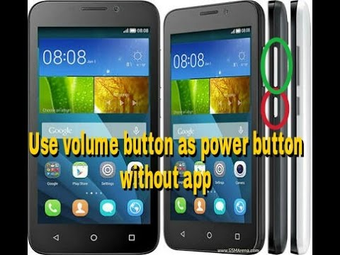 How to use volume button as power button without app