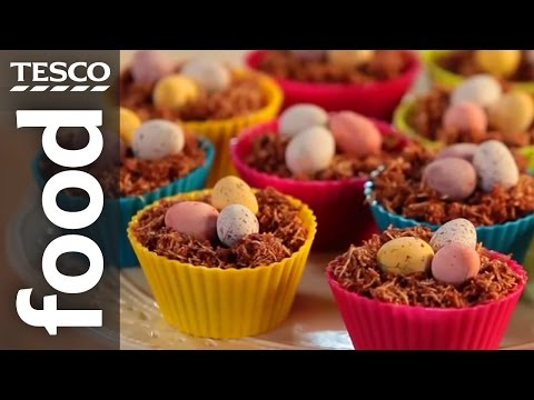 How to Make Chocolate Nest Easter Cakes | Tesco Food
