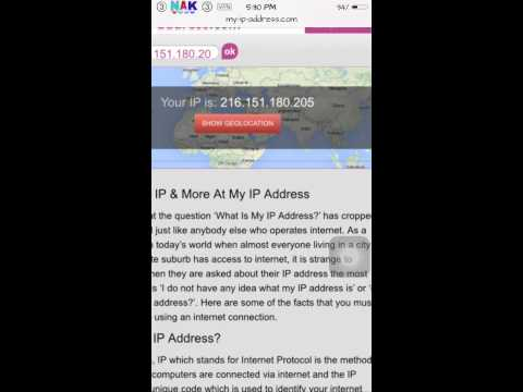 How to change iphone ip address