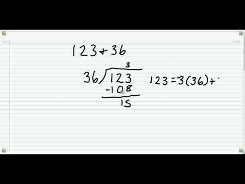 Finding the GCF using the Euclidean Algorithm