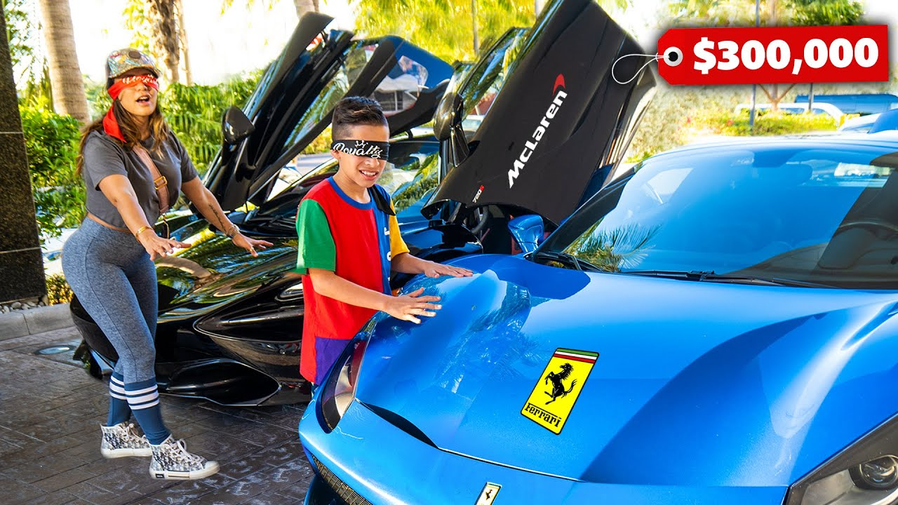 BUYING Any CAR We Want But BLINDFOLDED! (Big Surprise)   The Royalty Family