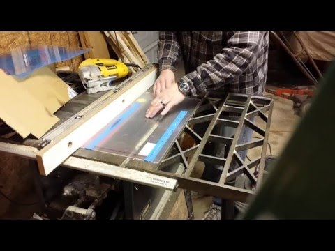 Cutting plexiglass with table saw and jigsaw