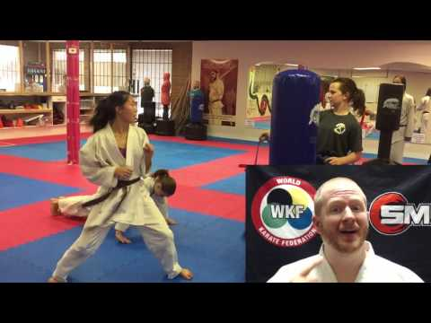 Karate Belt Swing Timing Drill - wkf kumite speed training drill