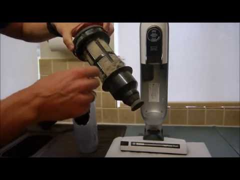 How to clean the Bosch Athlet Cordless Vacuum Cleaner