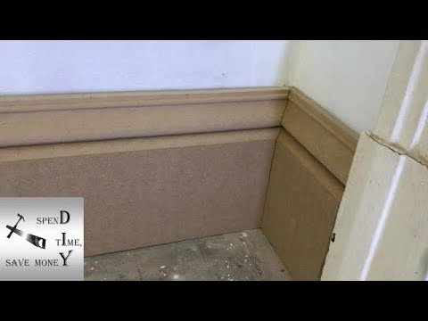 How to cut a scribe internal corner on skirting boards or baseboards
