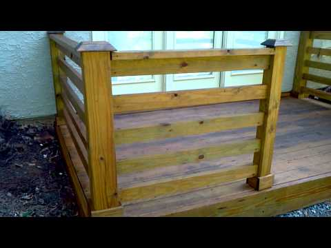 How to build a deck at ground level