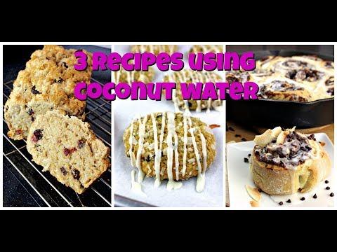 3 Recipes Using Coconut Water || Gretchen's Vegan Bakery