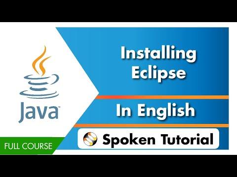 Installing Eclipse - English