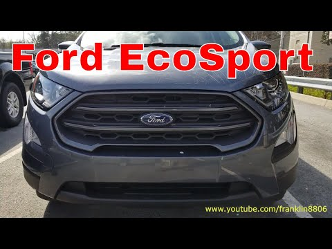 2018 Ford Ecosport start up,exhaust clip, and interior review