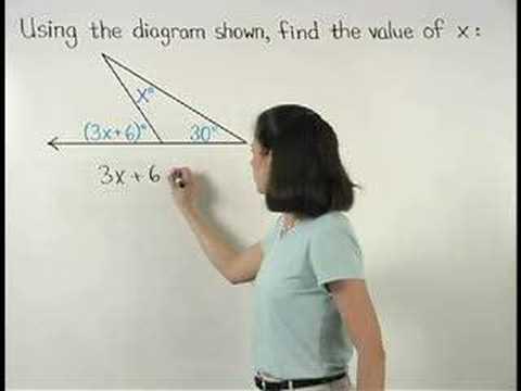 Exterior Angle Theorem - MathHelp.com - Geometry Help