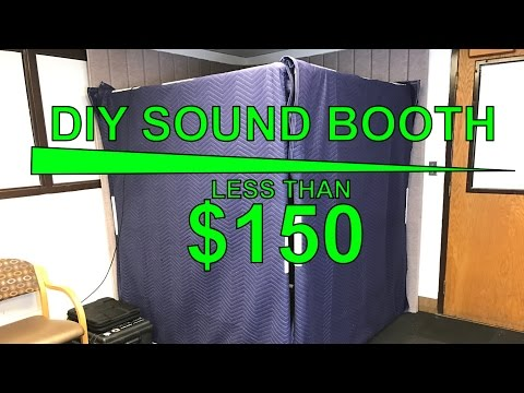 DIY $150 Studio Recording Sound Booth | Soundproofing Acoustic Panels