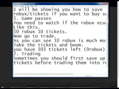 Roblox how to earn more robux/tix 2013