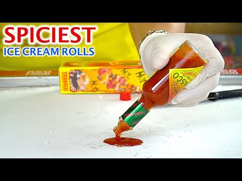 SPICIEST ICE CREAM ROLLS EVER