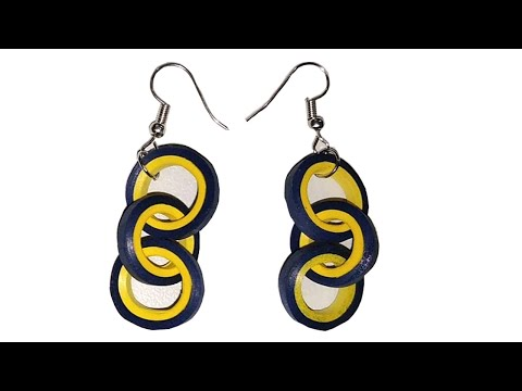 How to make Looped Quilling Earrings || Paper Earrings || Quilling Earrings | Easy Quilling Earrings