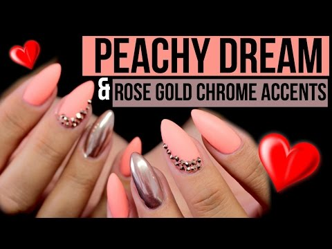 NEON PEACHY DREAM, ROSE GOLD CHROME & SWAROVSKI ACCENTS | LED LAMP REVIEW